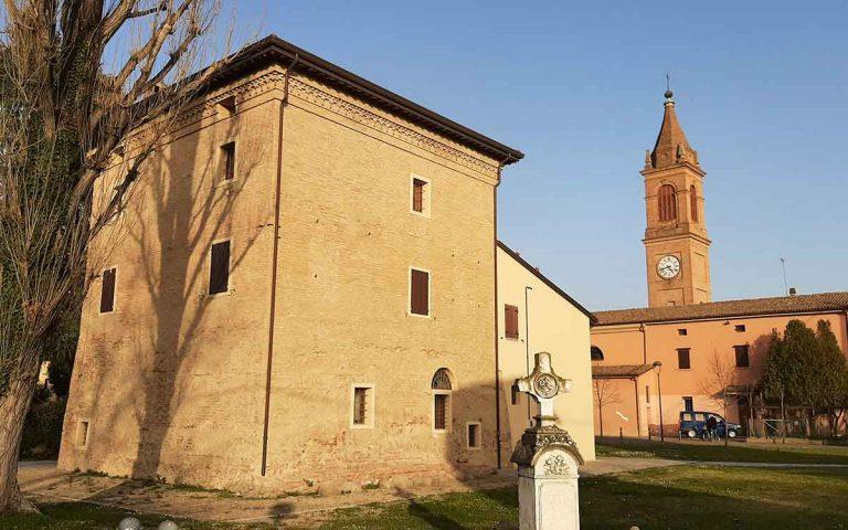 Torrione e chiesa di Bubano